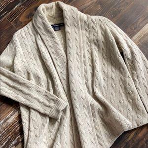 Ralph Lauren Sport wool angora drape cardigan